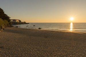The beach of trengandin in Noja