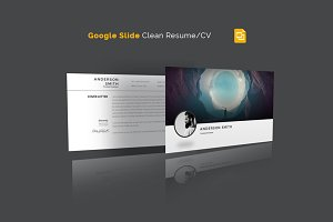 Google Slide Clean Resume/CV