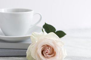 Styled Stock Image, Rose & Tea
