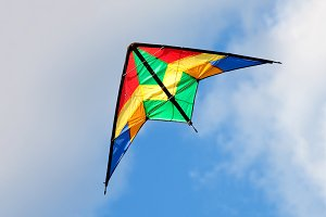 Colourful kite flying