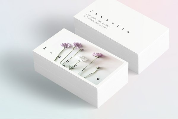 Business Card Templates: Polar Vectors - Isabella-floral business card