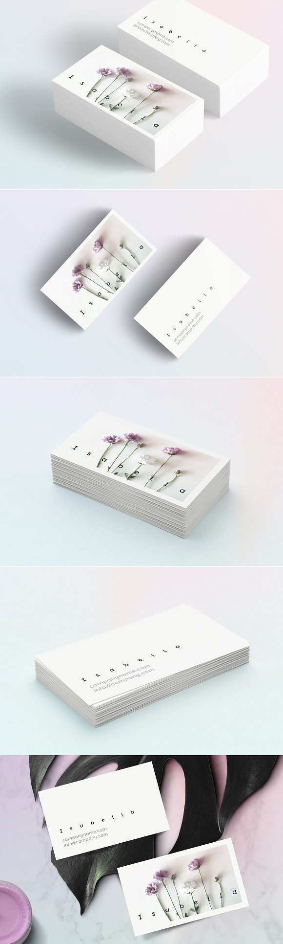 Isabella Floral Business Card Templates Creative Mystore365com Meter6013capacitancecapacitortesterincircuithtml Cards