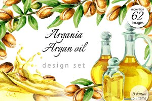 WATERCOLOR argania and argan oil set