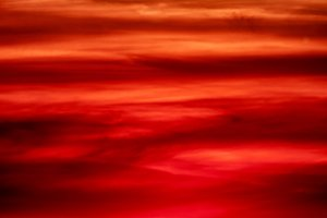 Amazing red sunset