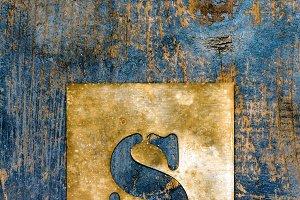 Metallic typography: letter S