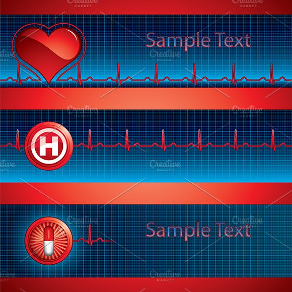 Heart Beat Banners