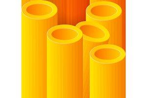 Macro pasta vector background