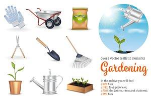 Gardening Realistic Set