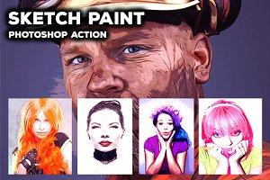 Sketch Paint - Photoshop Action