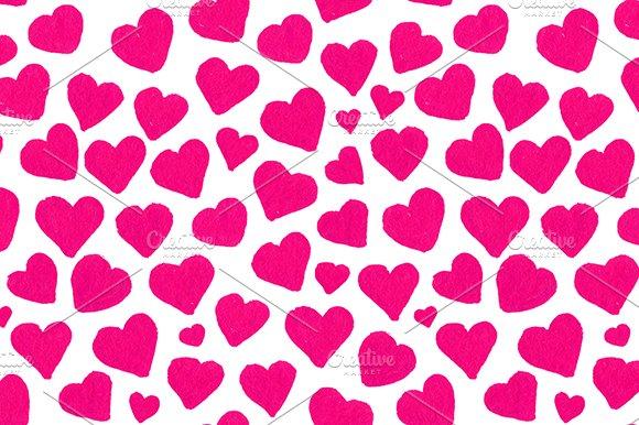 Watercolor Heart Seamless Pattern