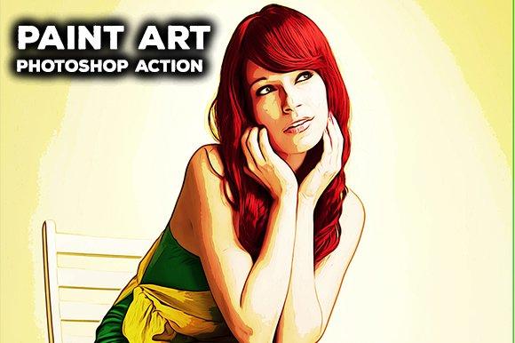 Paint Art Photoshop Action