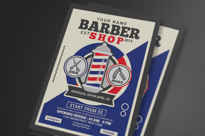3 Barber Shop Flyer Templates Creative Market