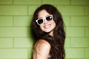funky girl in sunglasses