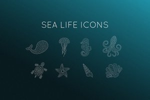 8 Sea Life Icons