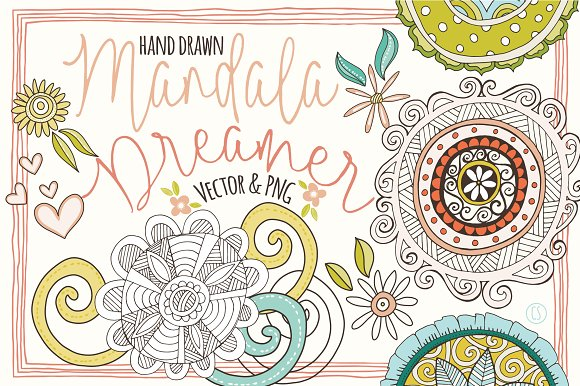 Mandala Clipart Decorative Elements