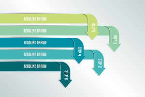 Arrow infographics scheme, flowchart