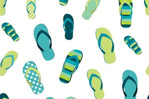 Flip flop color summer pattern