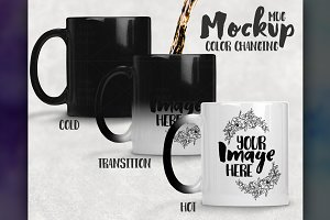 Color Changing Mug Mockup Transition