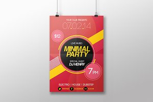 Minimal Party Flyer Template