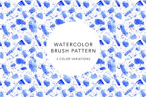Watercolor Brush Pattern