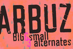 Arbuz - letterpress fonts 50% off