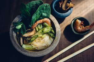Bowl of Asian Noodle Soup