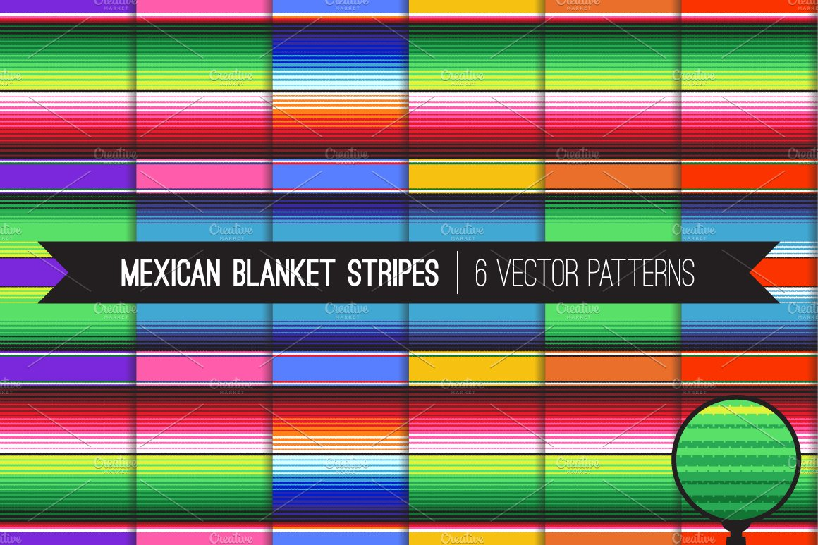 Vector Mexican Blanket Stripes ~ Patterns ~ Creative Market