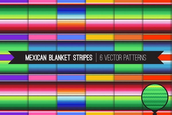 Vector Mexican Blanket Stripes