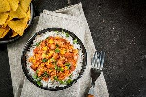 Mexican food, chili con carne