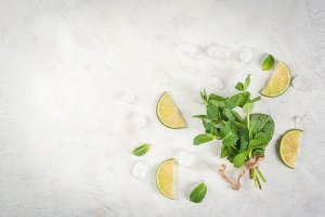 Fresh mint and lime
