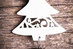white wooden fir tree