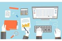 Set teamwork Business Concept