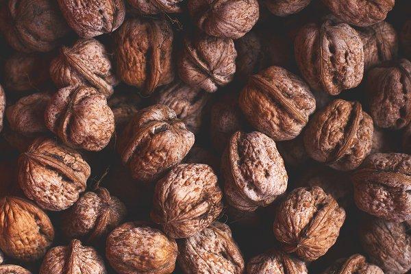 Health Stock Photos: Maria Dattola Photography - Walnuts pattern