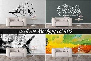 Wall Mockup - Sticker Mockup Vol 402