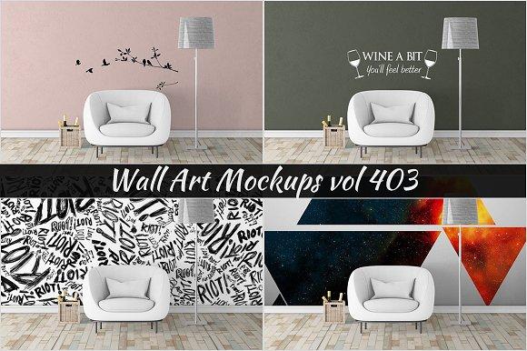 Wall Mockup Sticker Mockup Vol 403