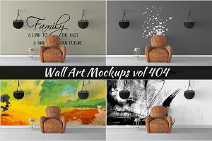 Wall Mockup - Sticker Mockup Vol 404