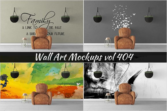 Wall Mockup Sticker Mockup Vol 404