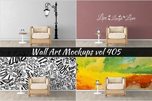 Wall Mockup - Sticker Mockup Vol 405