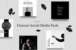 Human Social Media Pack.