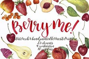Berry me! Watercolor berries