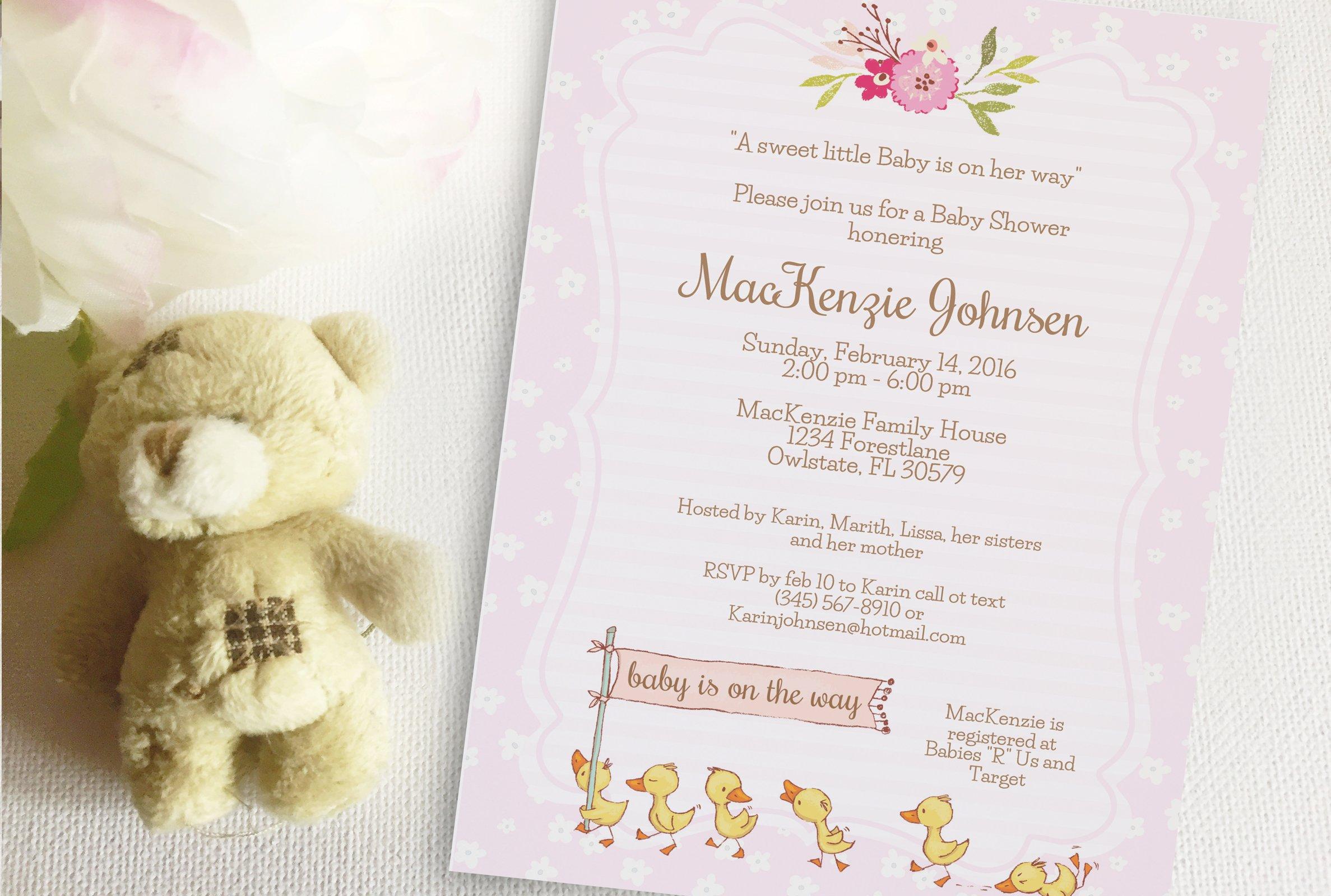 Duck Baby Shower invitation ~ Invitation Templates ~ Creative Market