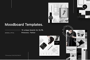 Download Tanska Mood Boards Collection Creative Photoshop Templates Creative Market