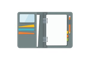 blank business organizer