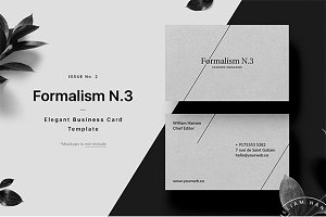 Formalism Business Card Template