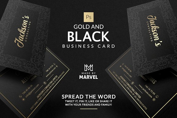 gold and black business card business card templates creative market