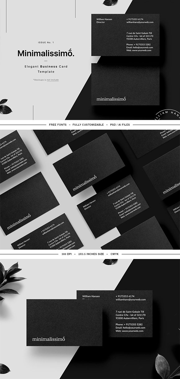 Minimalissimo Business Card Template ~ Business Card Templates ...