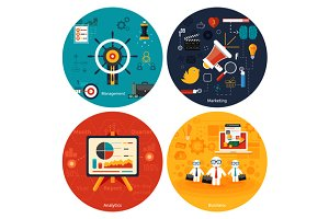 Set Icons for marketing, management