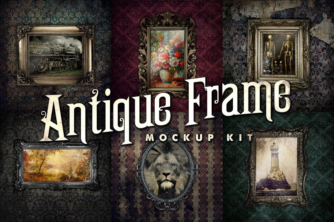 Antique Frame Mockup Kit ~ Product Mockups ~ Creative Market