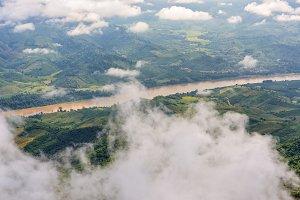 High angle view of Mekong River