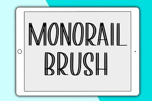 Monorail Procreate lettering brush